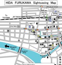 Hida Furukawa Sightseeing Map